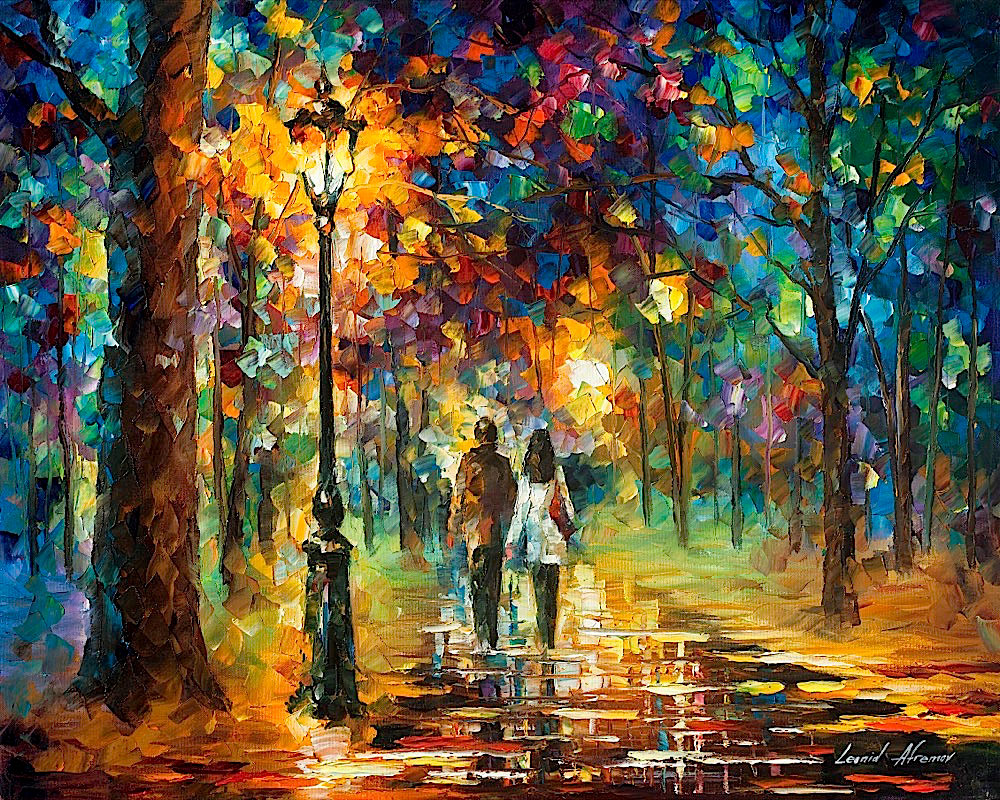 "GLIMPSE TO THE FUTURE - Original Oil Painting On Canvas By Leonid Afremov - 30""X24"""