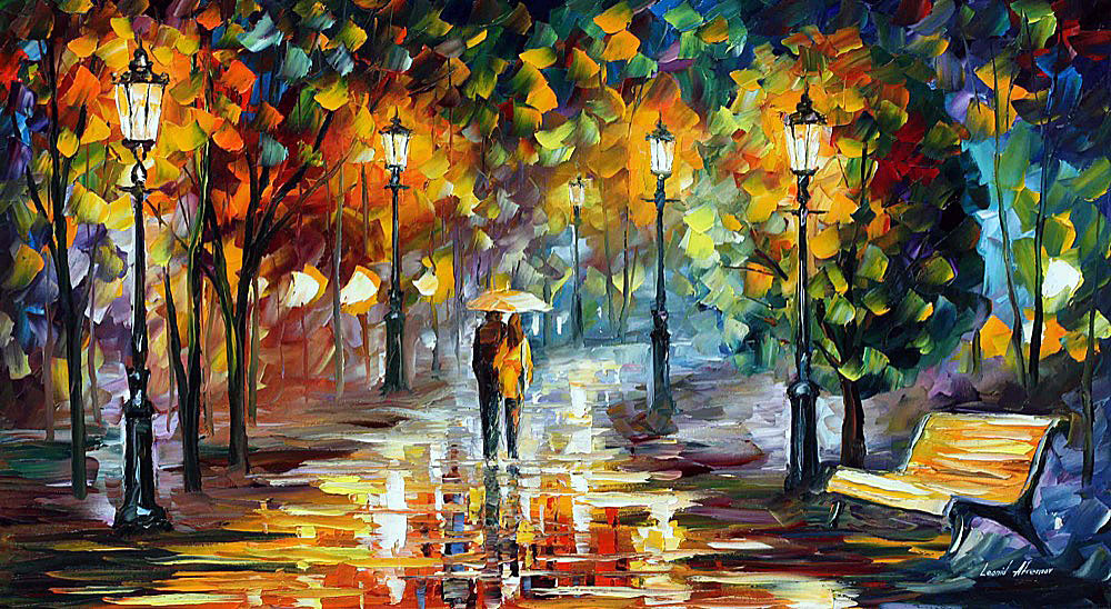Soul Of The Rain Palette Knife Oil Painting On Canvas By