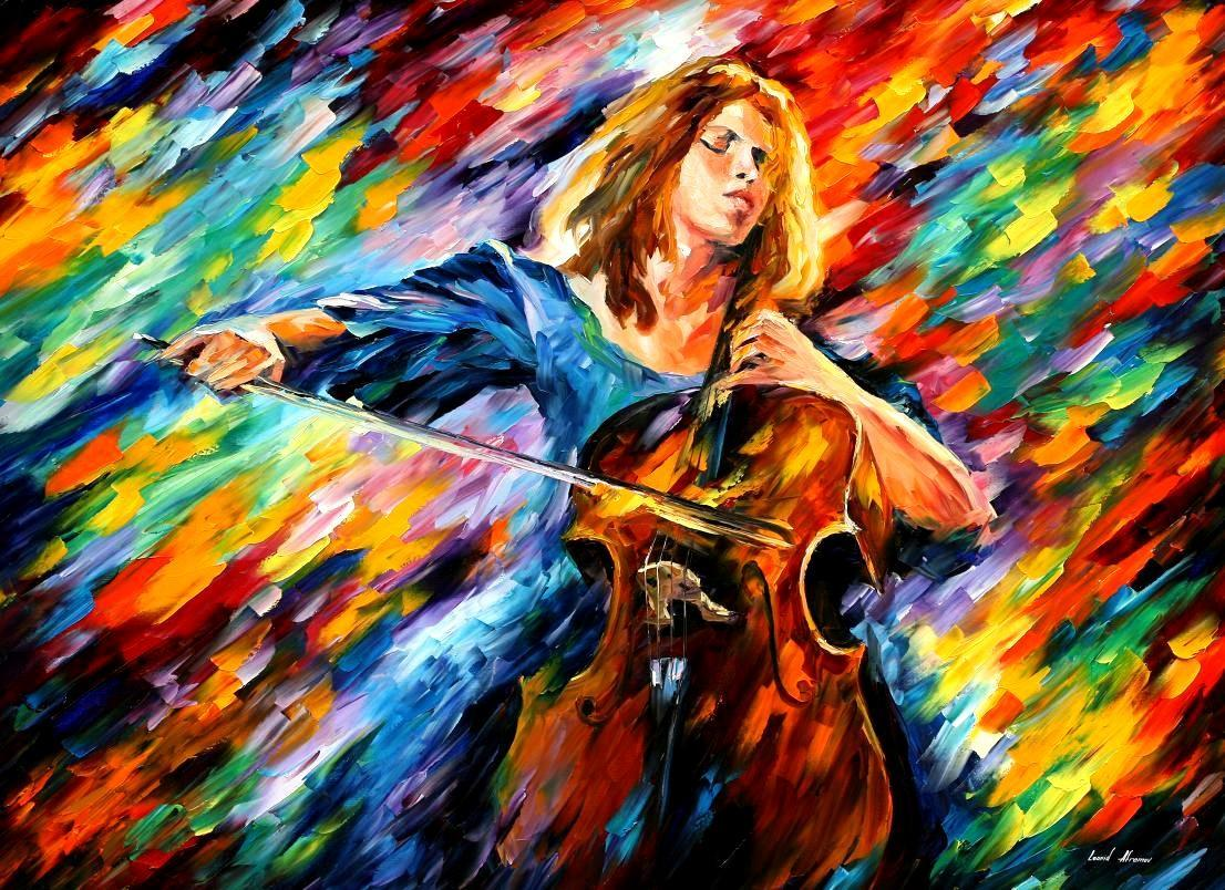 "BLUE RHAPSODY —Palette Knife Oil Painting On Canvas By Leonid Afremov - Size 40""X30"""