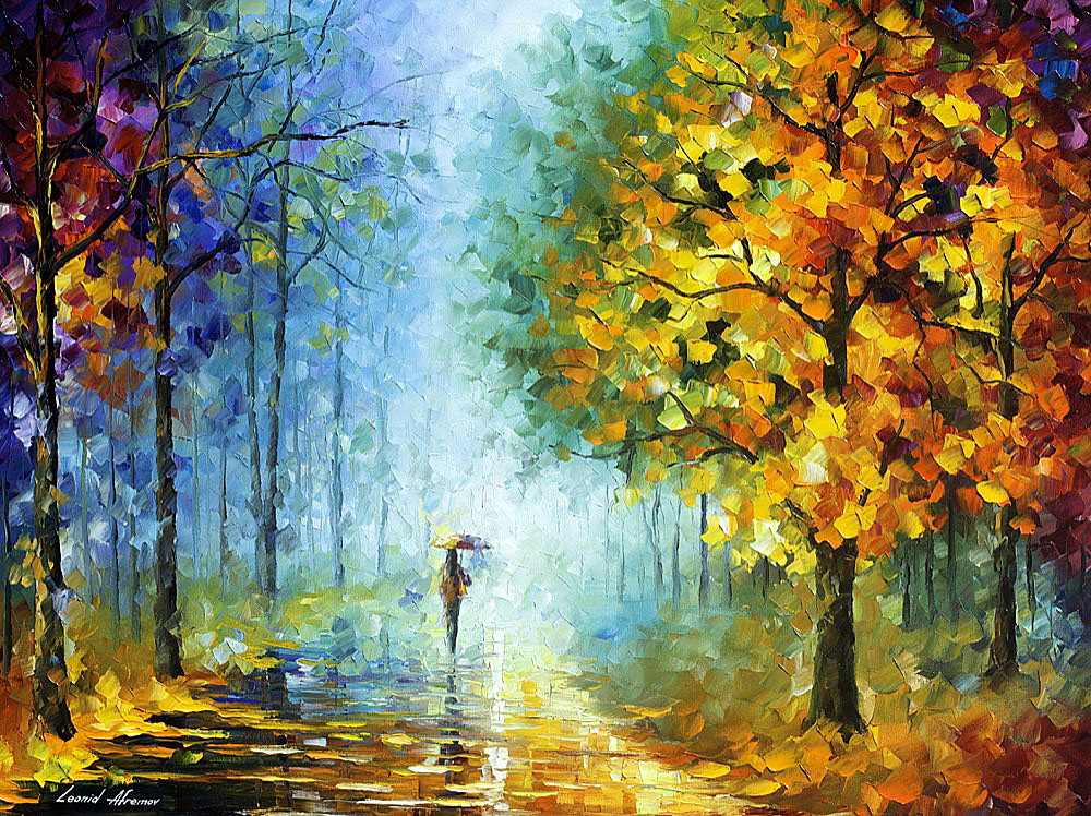 Morning Shadows Palette Knife Oil Painting On Canvas By