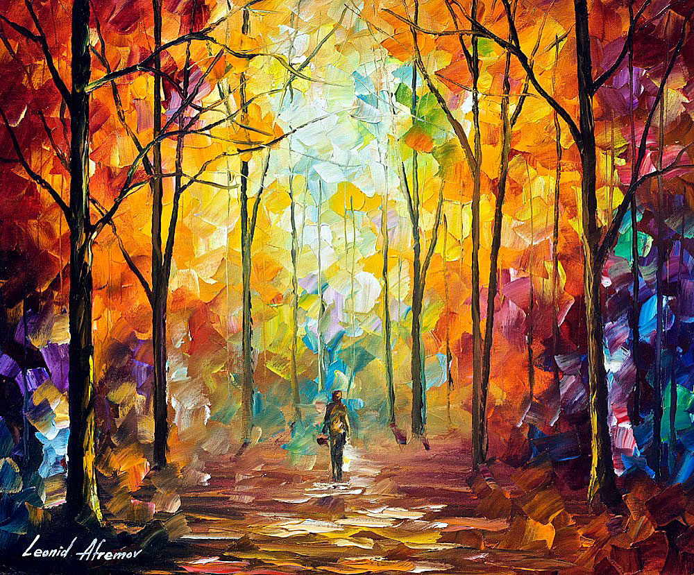 "MOMENT OF REALIZATION — PALETTE KNIFE Oil Painting On Canvas By Leonid Afremov - Size 20""x24"" (50cm x 60cm)"