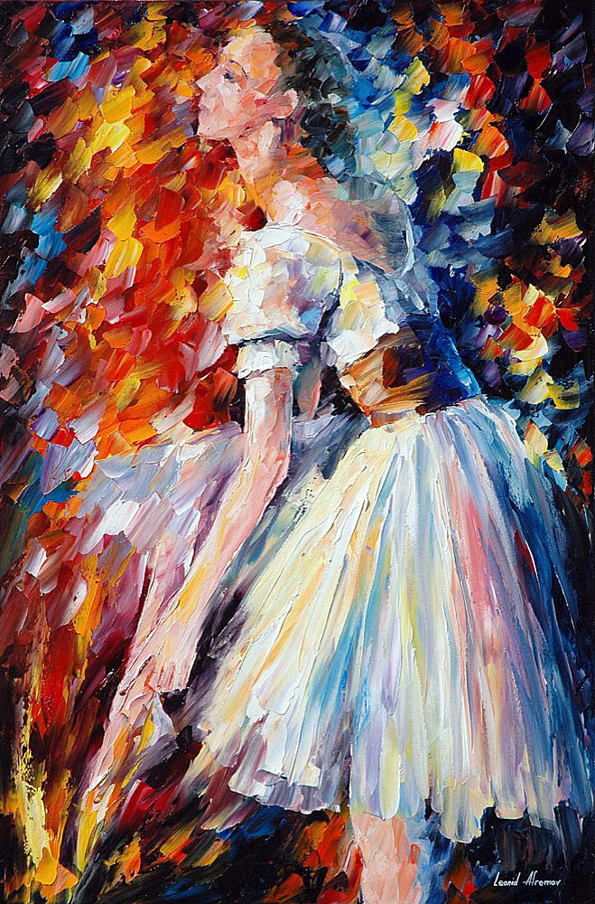 Preparation Palette Knife Oil Painting On Canvas By