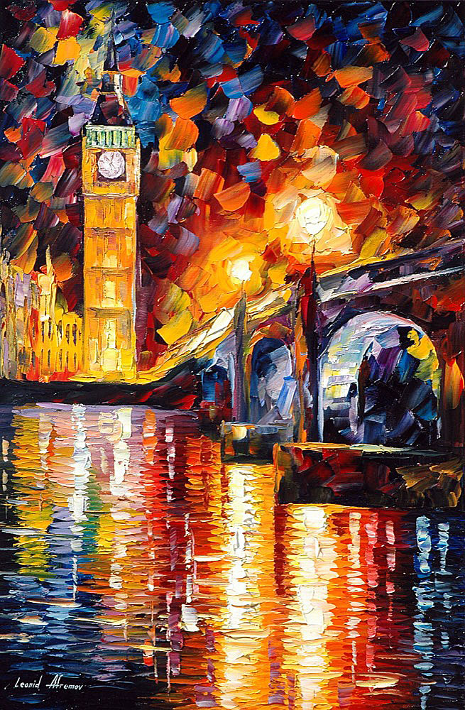 London palette knife oil painting on canvas by leonid for Oil paint price