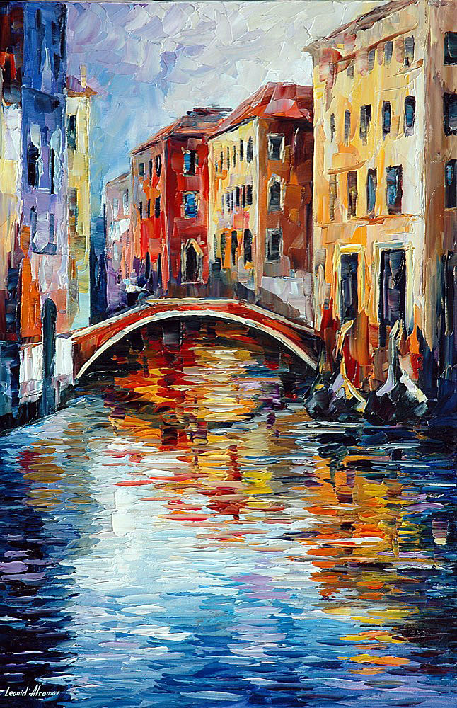 Venice Palette Knife Oil Painting On Canvas By Leonid