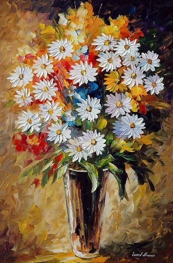 SUMMER BOUQUET — PALETTE KNIFE Oil Painting On Canvas By Leonid ...