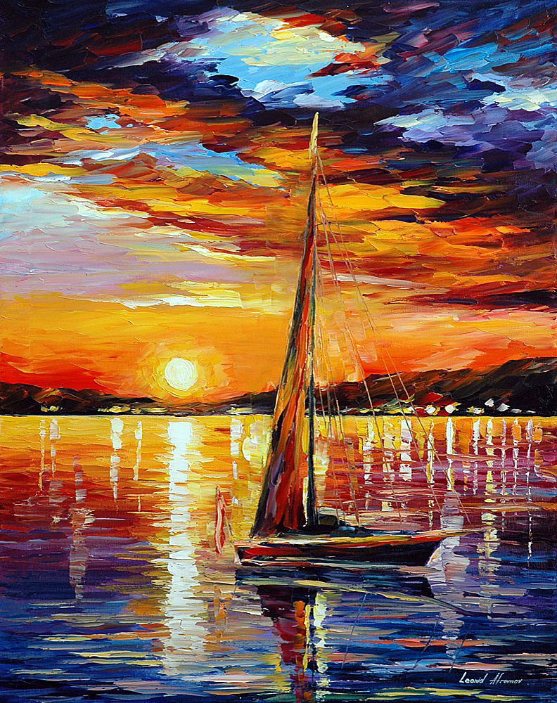 SAIL IN SUNSET
