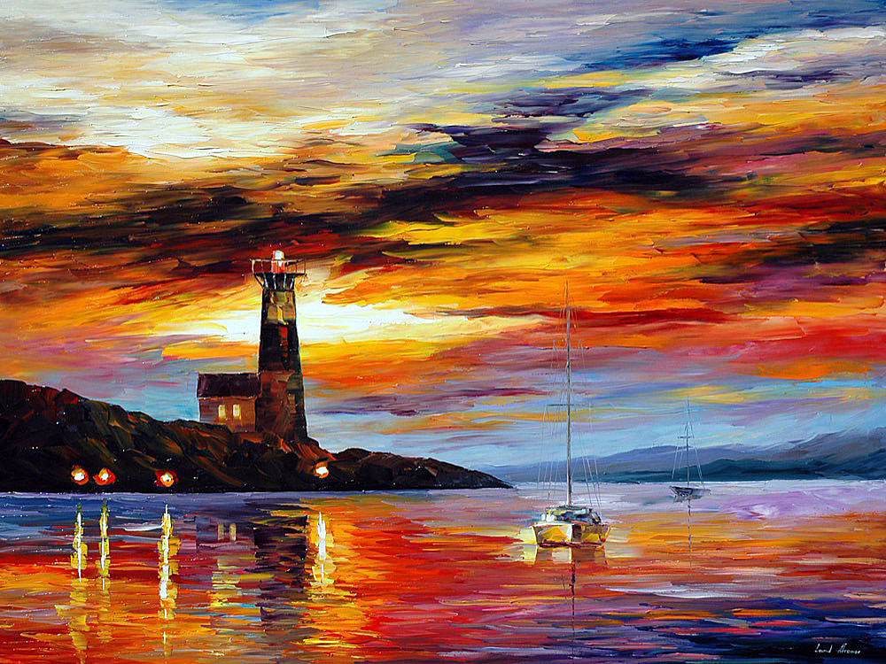 Silence Of The Sea Palette Knife Oil Painting On Canvas