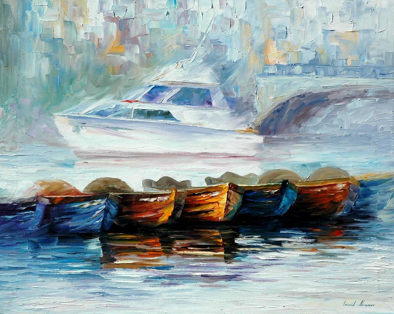 Famous Painting Boats In Fog
