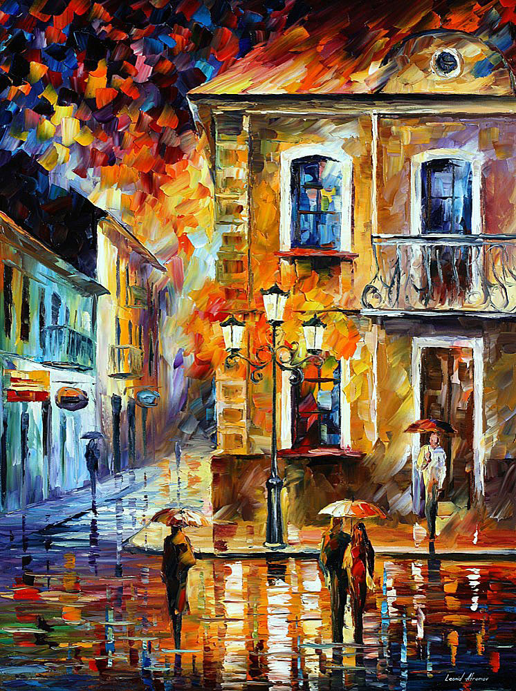 CHARMING NIGHT — PALETTE KNIFE Oil Painting On Canvas By ... - photo#3