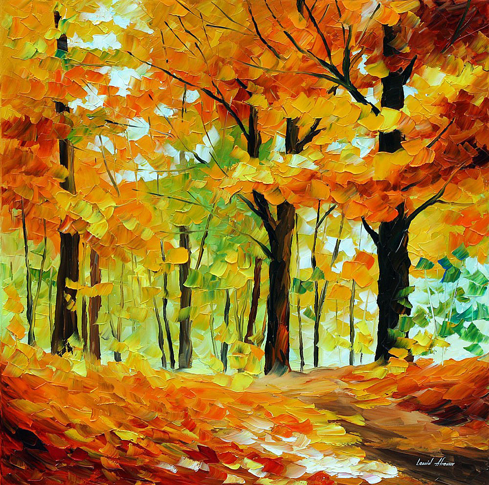 3bdeb11dd FALL MOOD — Nature Canvas Art Oil Painting By Leonid Afremov - Size ...