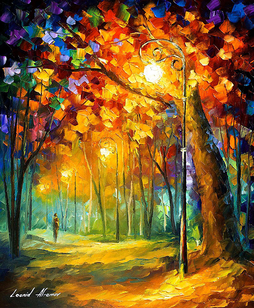 Foggy Morning 2 - Palette Knife Oil Painting On Canvas By
