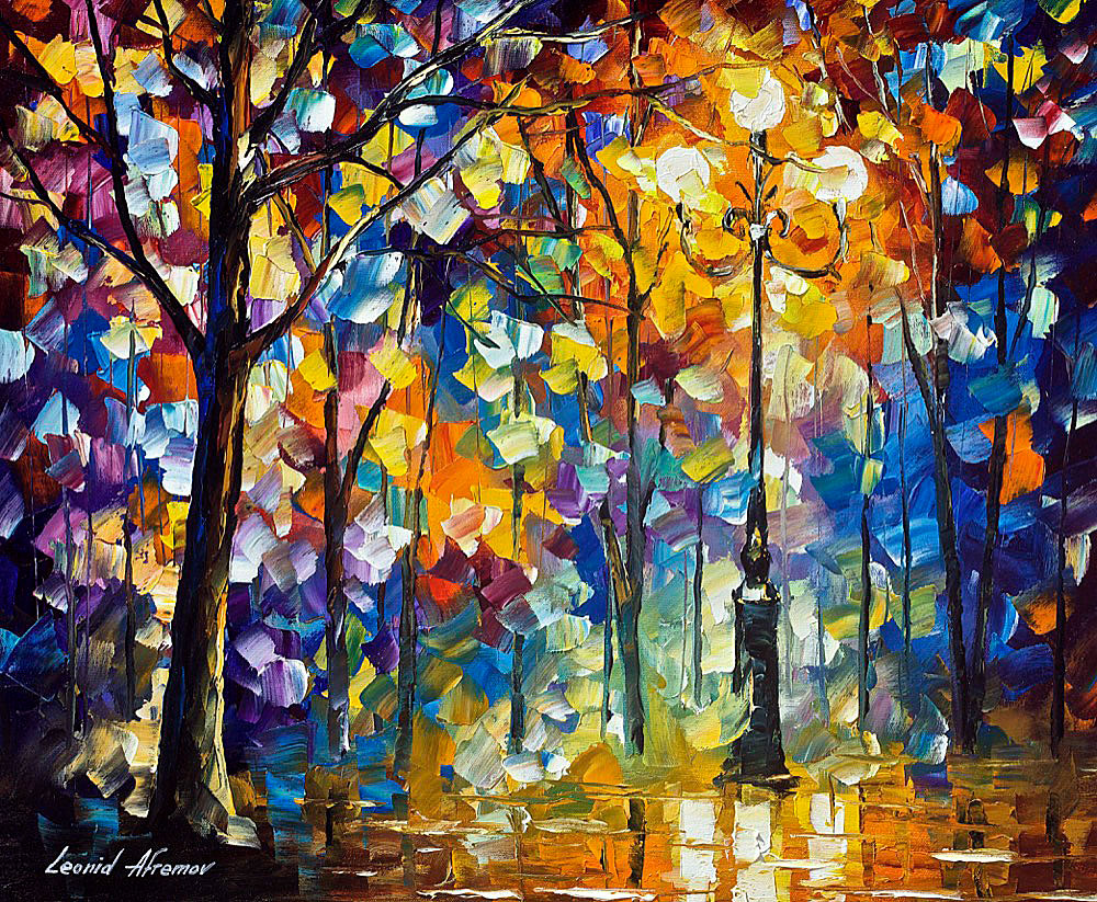 "THE LIGHT OF MAGIC — PALETTE KNIFE Oil Painting On Canvas By Leonid Afremov - Size 20""x24"" (50cm x 60cm)"