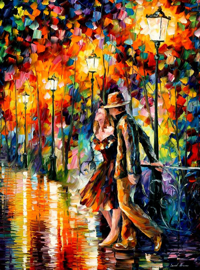 "TEMPTER — Original Oil Painting On Canvas By Leonid Afremov - Size 30""x40"""