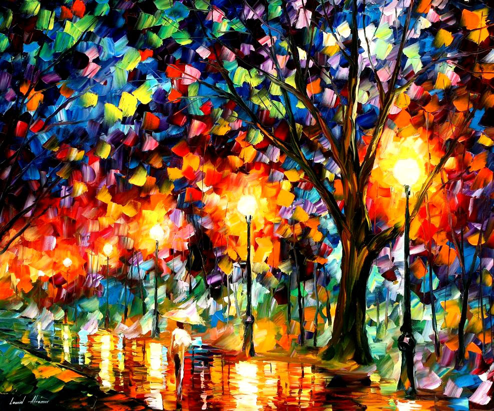 "ETERNITY — PALETTE KNIFE Oil Painting On Canvas By Leonid Afremov - Size 36""X30"""