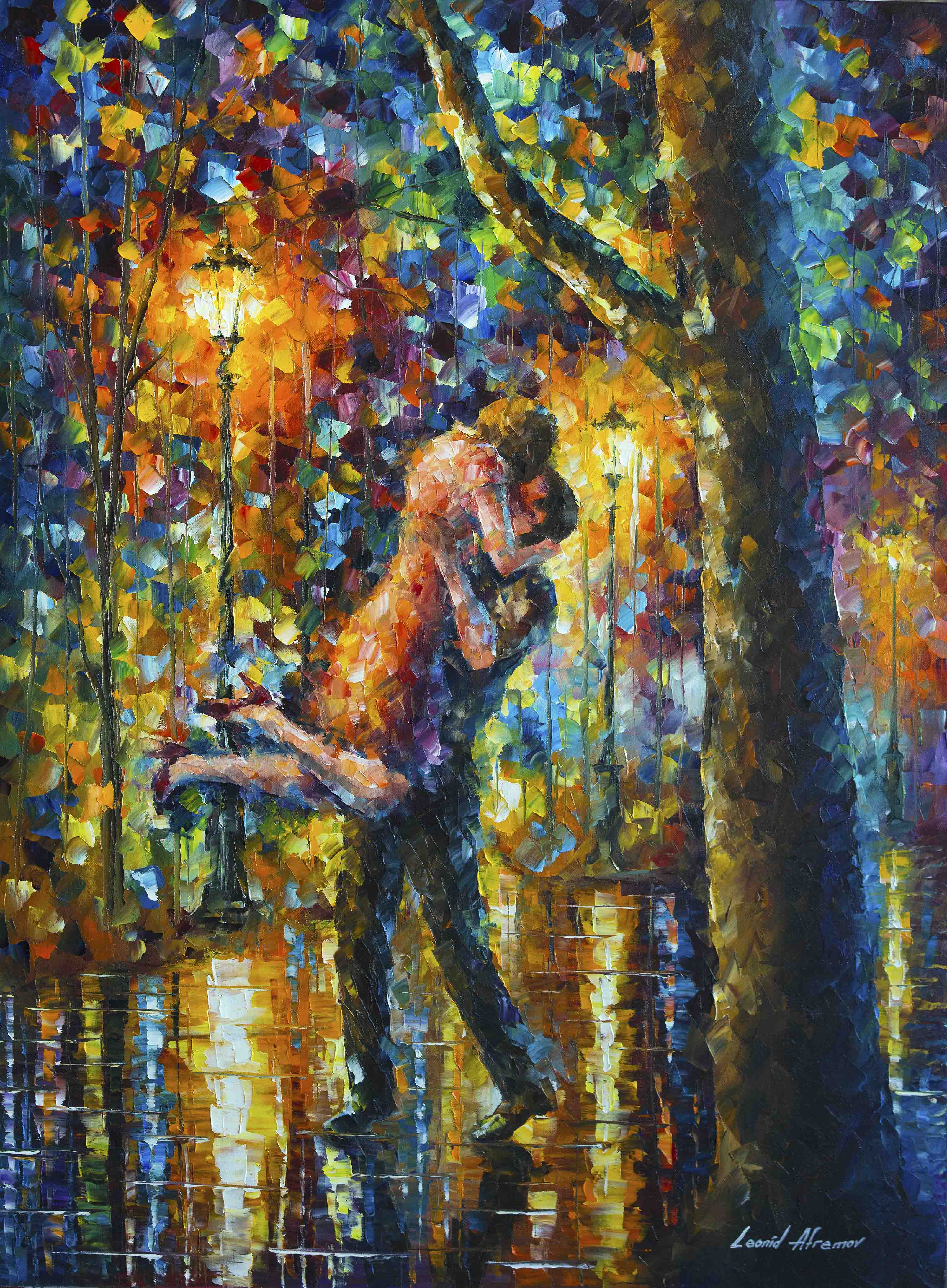 Long time ago - Original Oil Painting On Canvas By Leonid Afremov - 30x40""