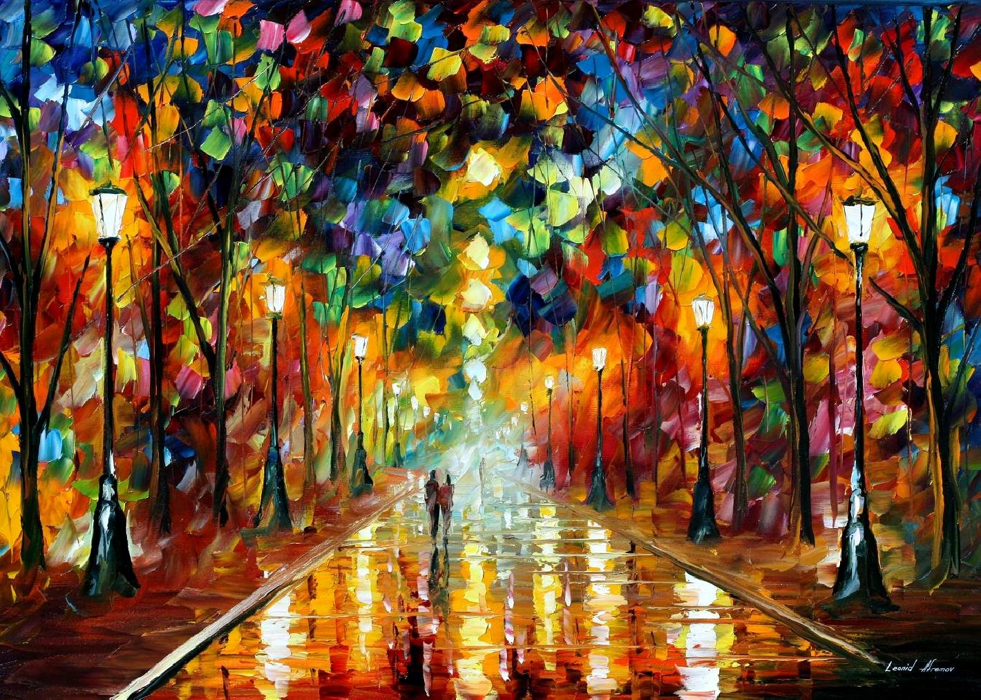 "FAREWELL TO ANGER — Limited edition Oil Painting  On Canvas By Leonid Afremov - Size 36""x24"""