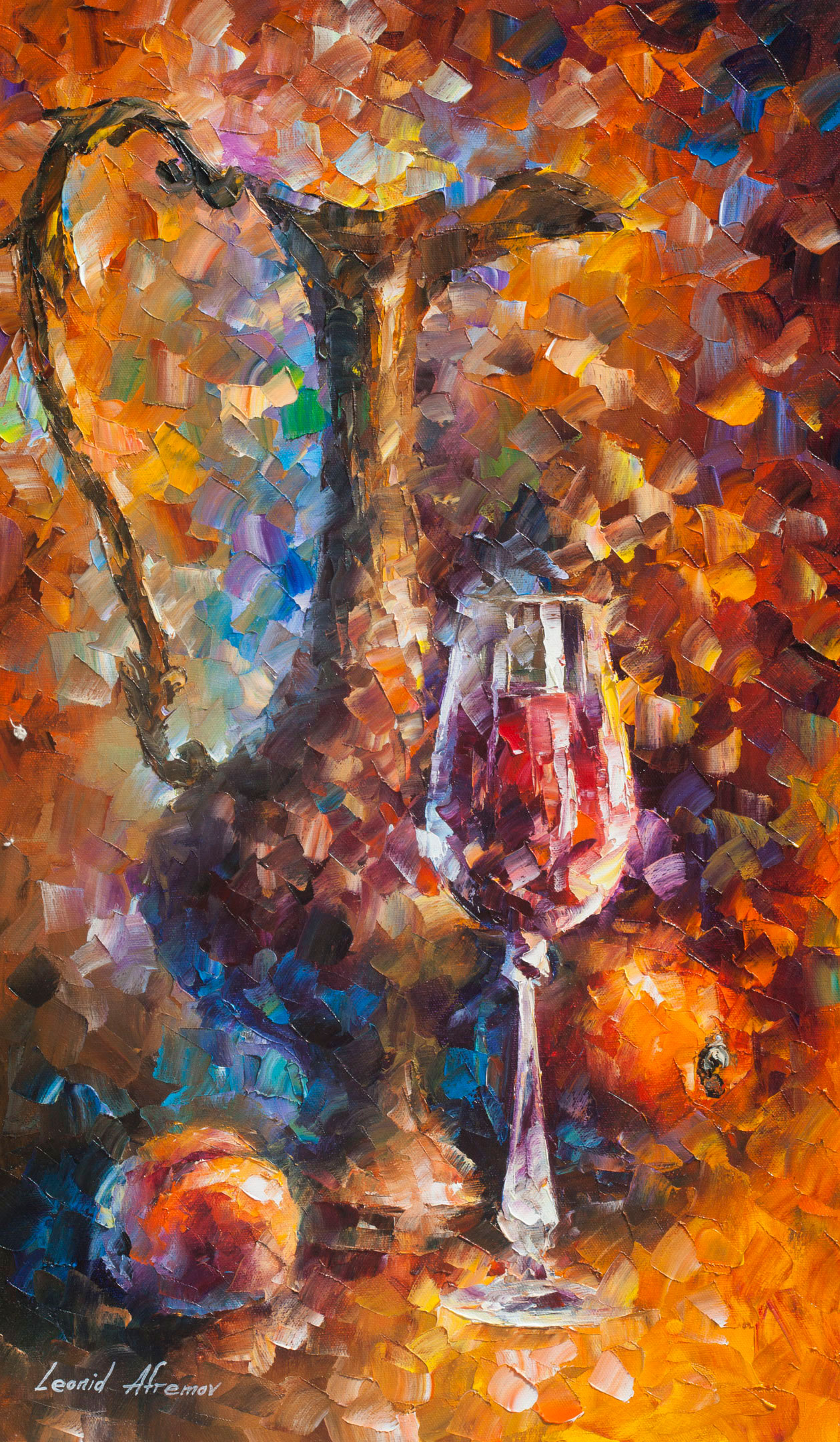 "MORNING JAR — Original Oil Painting On Canvas By Leonid Afremov - Size 15""Wx25""H (37CM X 64CM)"