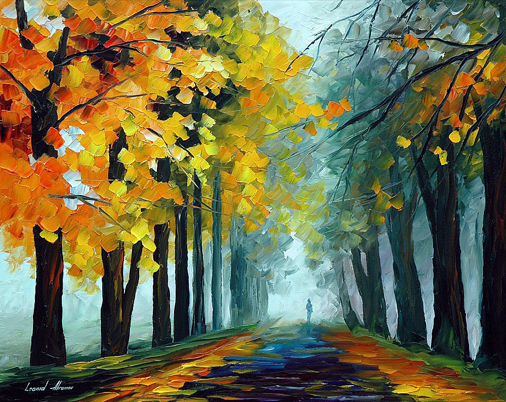 "ETERNITY — PALETTE KNIFE Oil Painting On Canvas By Leonid Afremov - Size 24""x30"" (60cm x 75cm)"