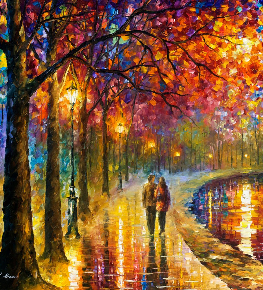 "SPIRITS BY THE LAKE — PALETTE KNIFE Oil Painting On Canvas By Leonid Afremov - Size 48""x72"" (120cm x 180cm) = VERTICAL"