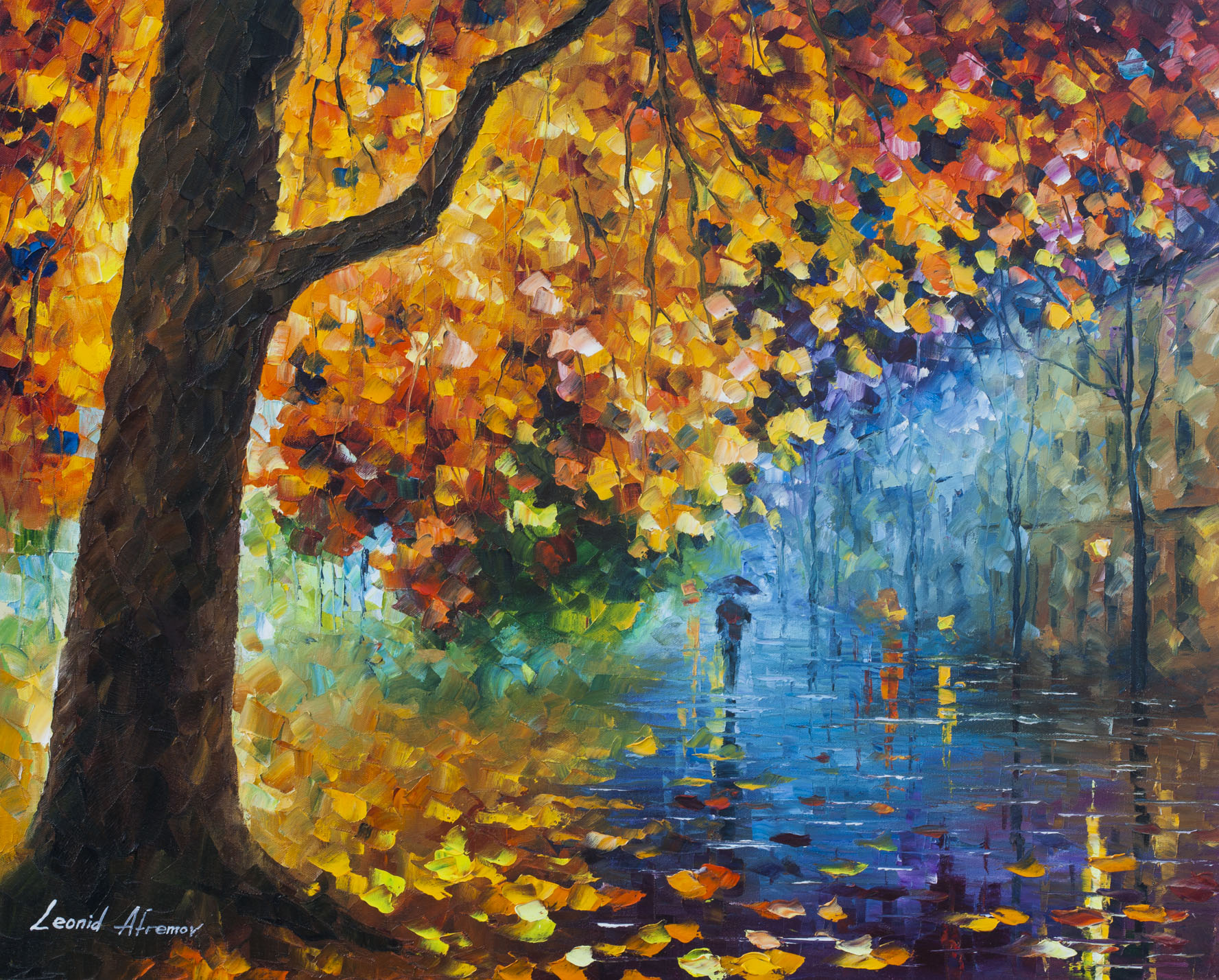 "THE JUDGEMENT OF AUTUMN  - Original Oil Painting On Canvas By Leonid Afremov - 30""X24"" (75CM X 60CM)"