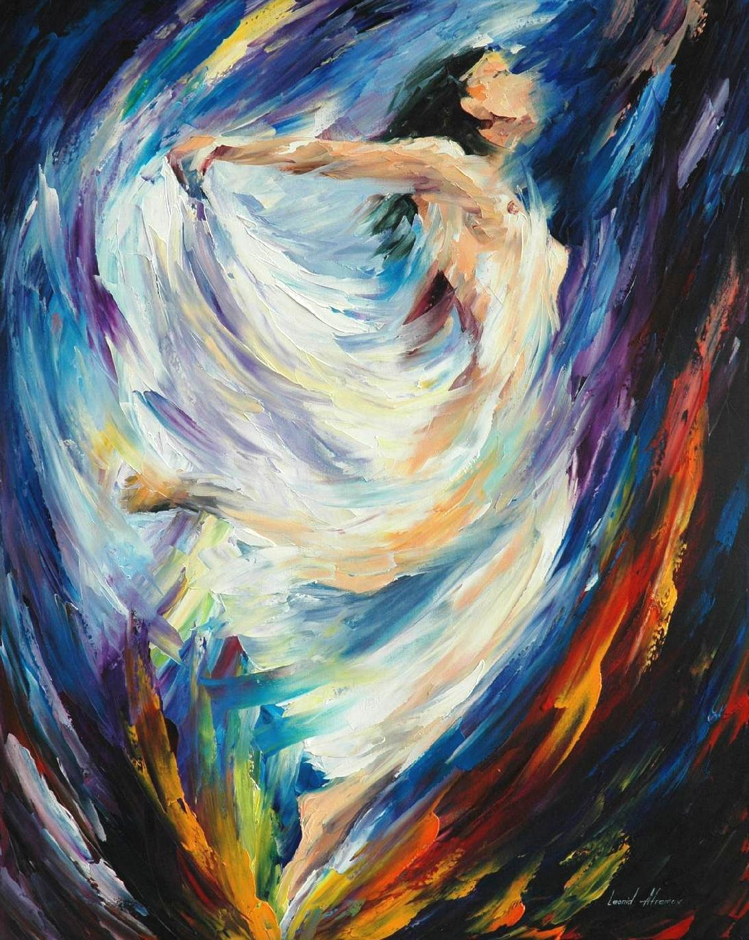 "ANGEL OF LOVE — PRINT ON Canvas by Leonid Afremov  - Size 24""x30"" (60cm x 75cm)"