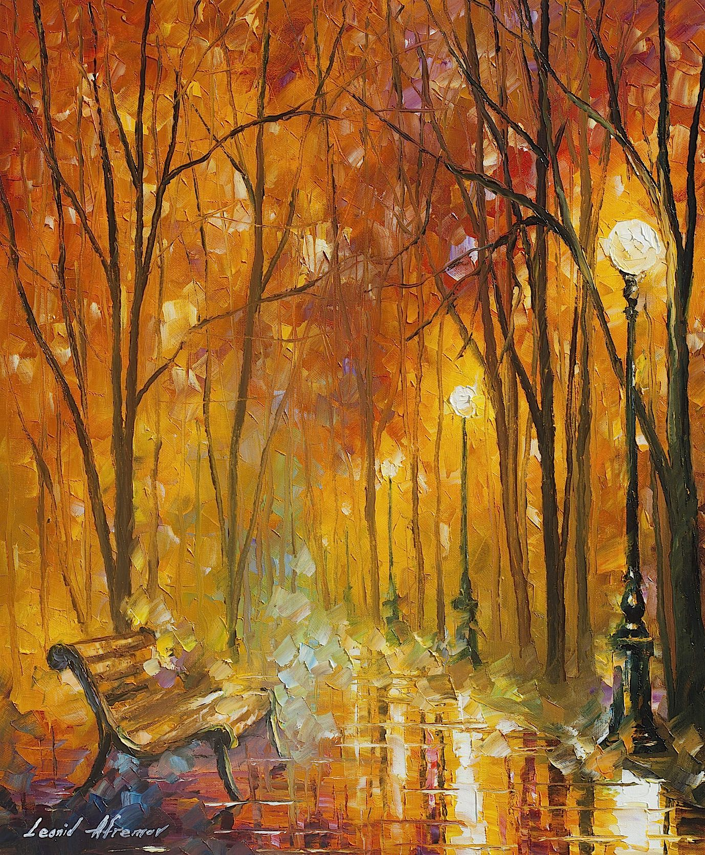 "REASONS OF AUTUMN - Original Oil Painting On Canvas By Leonid Afremov - 20""X24"" (50CM X 60CM)"