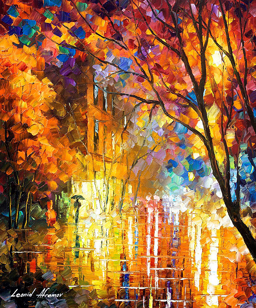 "IMPRESSION OF COLORS — Original Oil Painting On Canvas By Leonid Afremov - 20""X24""  (50cm x 60cm)"