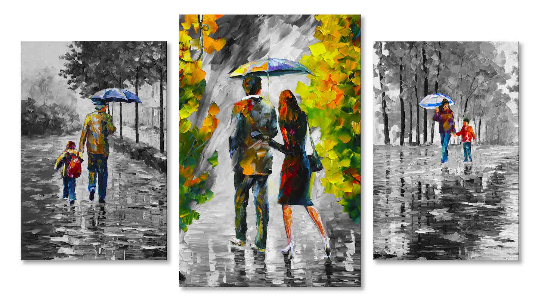 UNDER THE BLUE UMBRELLA - SET OF 3