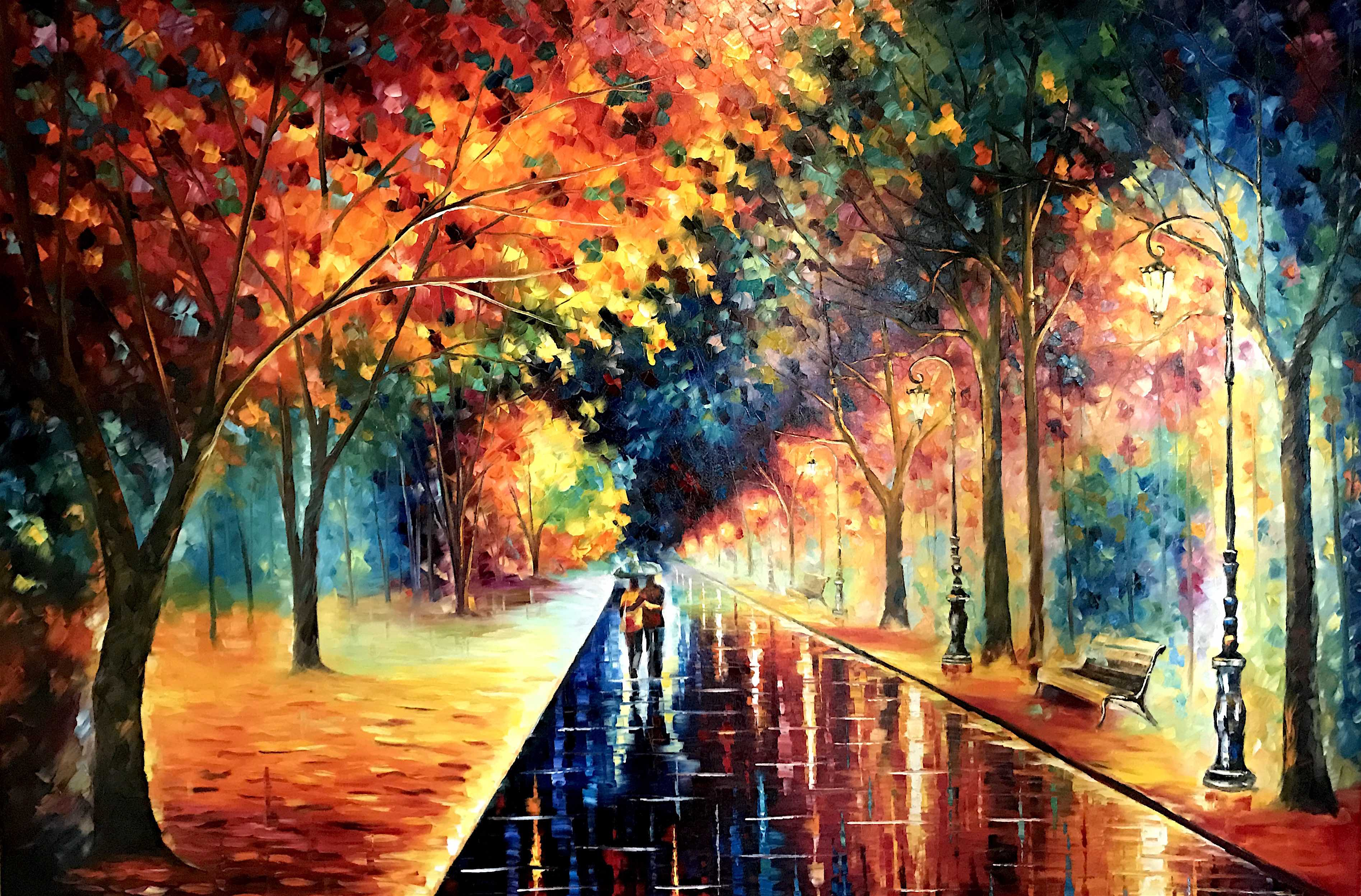 "DREAMING AROUND LIFE - Original Oil Painting On Canvas By Leonid Afremov - 72""x48""  (180cm x 120cm)"