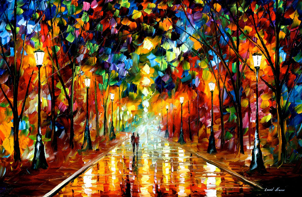 "Farewell to Anger  — Print on cotton Canvas By Leonid Afremov - Size 36""x24"""