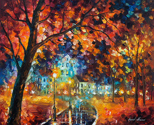"Vitebsk Dream - Original Oil Painting On Canvas By Leonid Afremov - 30""X24"" (75cm x 65cm)"