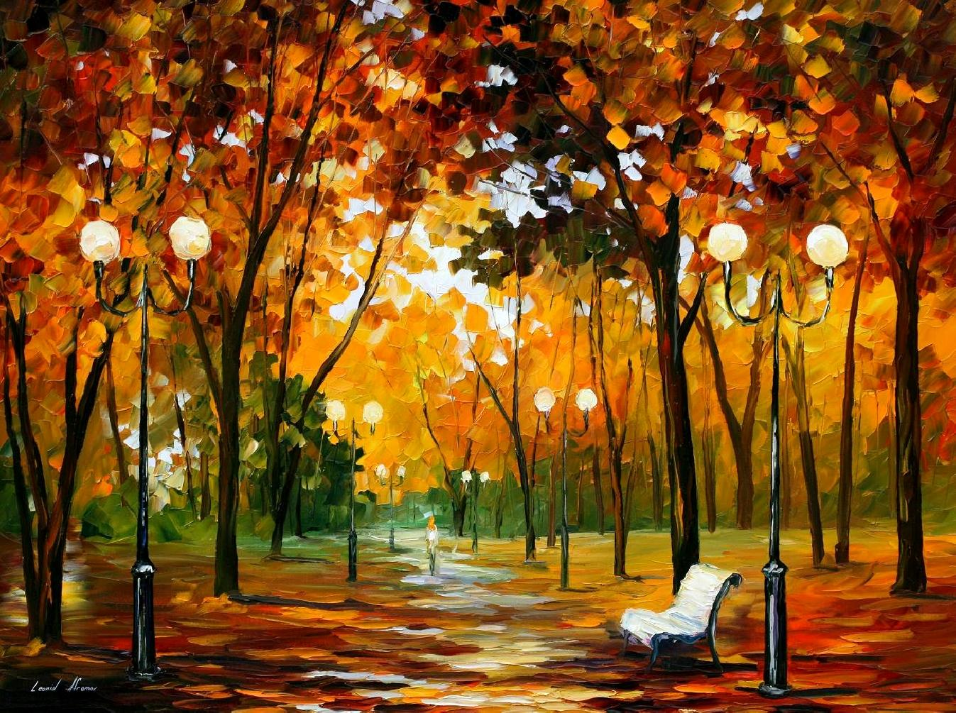 DANCE OF THE WIND —Original oil  On Canvas Painting  By Leonid Afremov - Size 54x40""