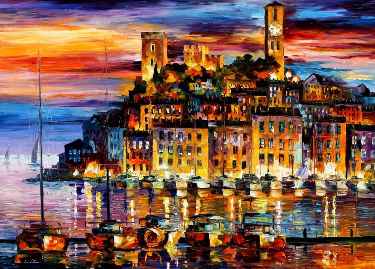 "CANNES - FRANCE — PALETTE KNIFE Oil Painting On Canvas By Leonid Afremov - Size 40""X30""(100cm x 75cm) (offer)"