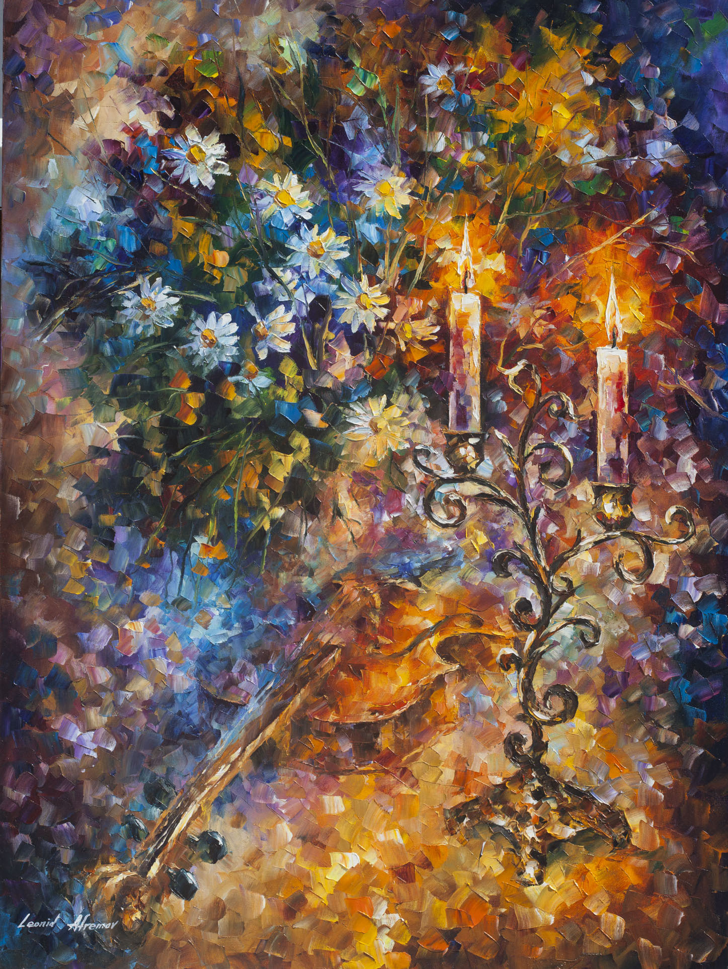 "THE VICTORY OF MUSIC - Original Oil Painting On Canvas By Leonid Afremov - 30""X40""(75cm x 100cm)"