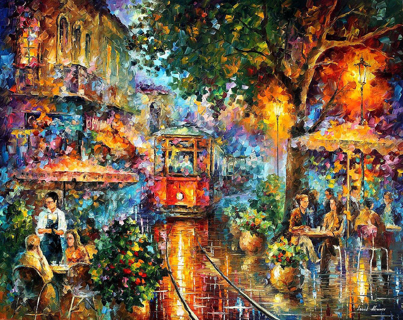 "OLD MAGIC — PRINT On Canvas By Leonid Afremov - Size 40""x30"" (100cm x 75cm)"