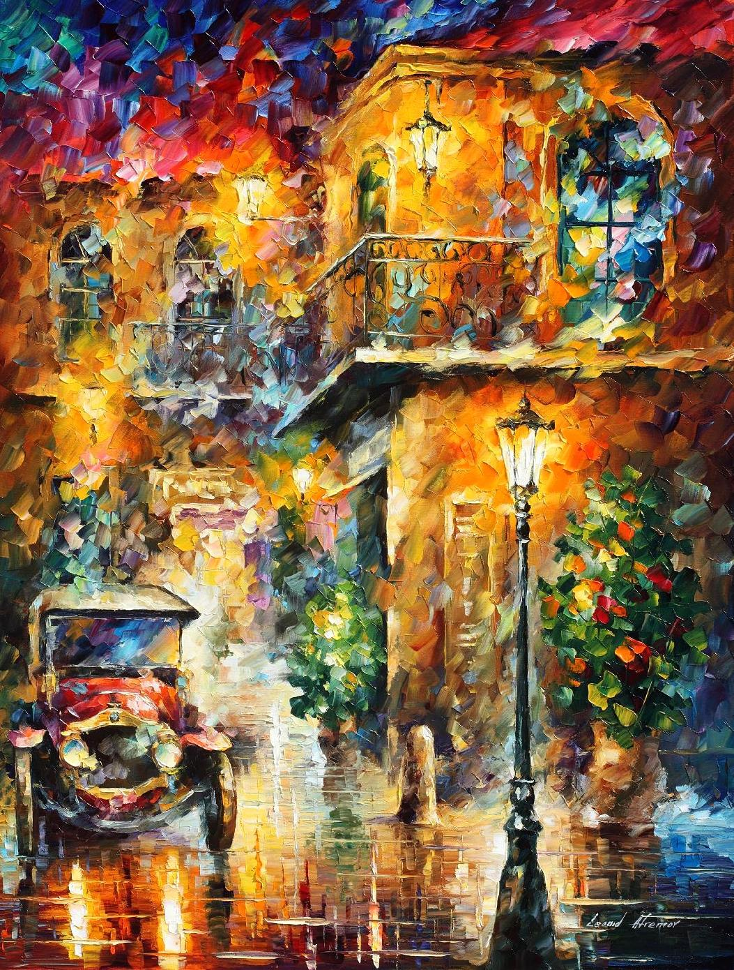 "MEMORIES OF STORIES  — PRINT ON  Canvas By Leonid Afremov - Size 30""x40"" (75cm x 100cm)"