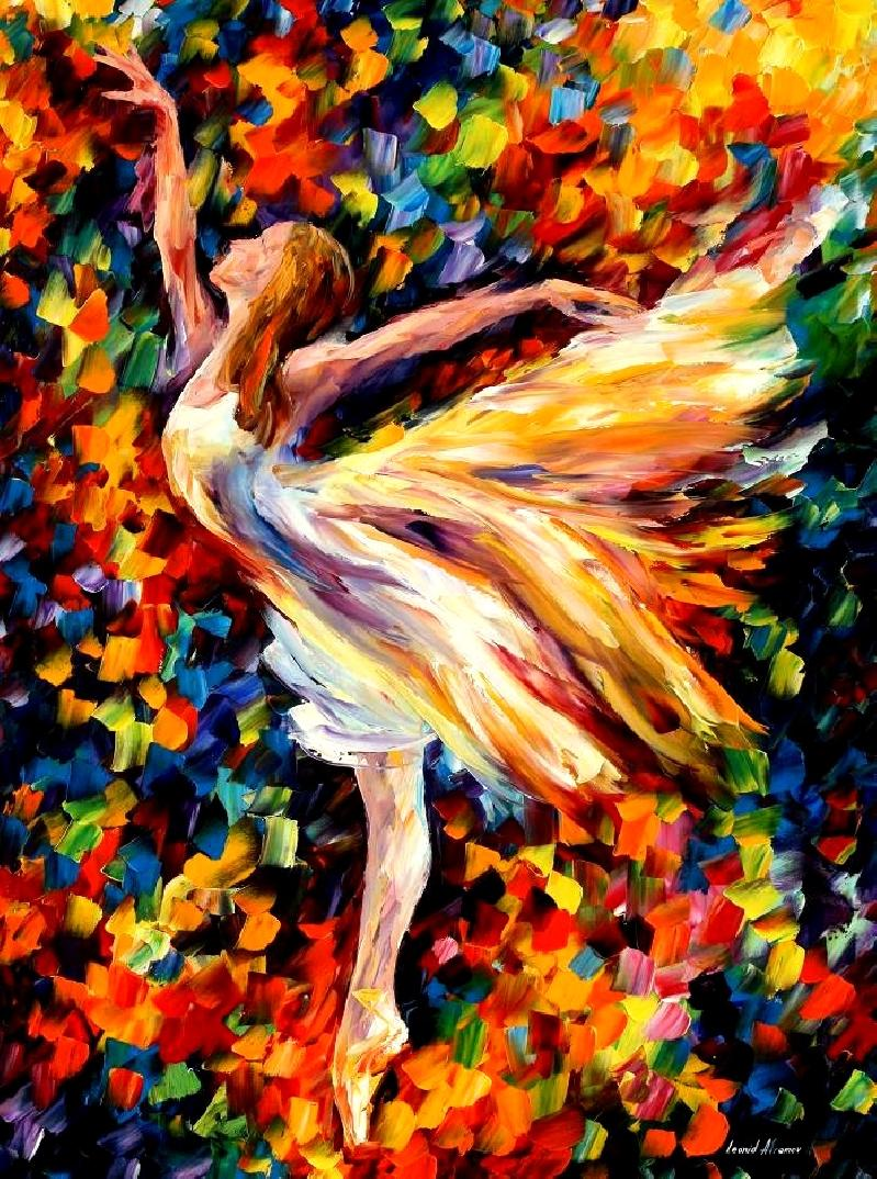 "THE BEAUTY OF DANCE — PRINT  on Canvas by Leonid Afremov  - Size 30""x40"""