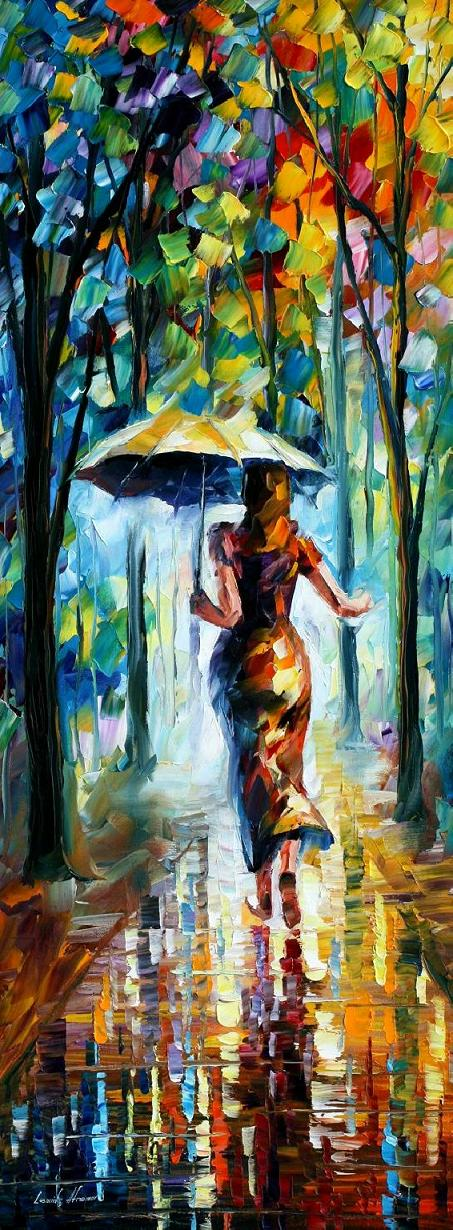 RUNNING TOWARDS LOVE PALETTE KNIFE Oil Painting On Canvas By