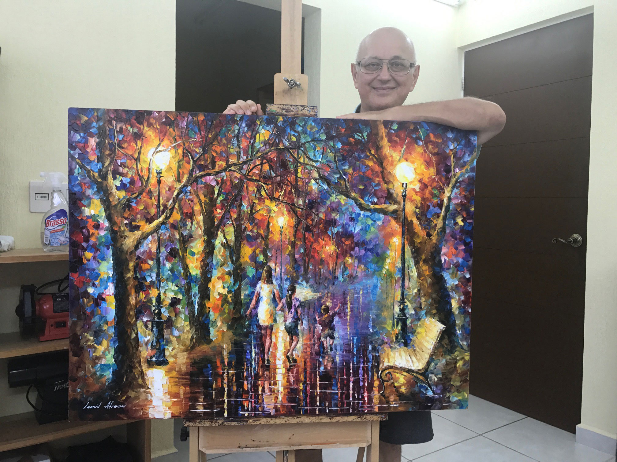 "FAMILY —  ORIGINAL LIMITED EDITION OF 10 PALETTE KNIFE Oil Painting On Canvas By Leonid Afremov - Size 40""x30""  (100cm x 75cm)"
