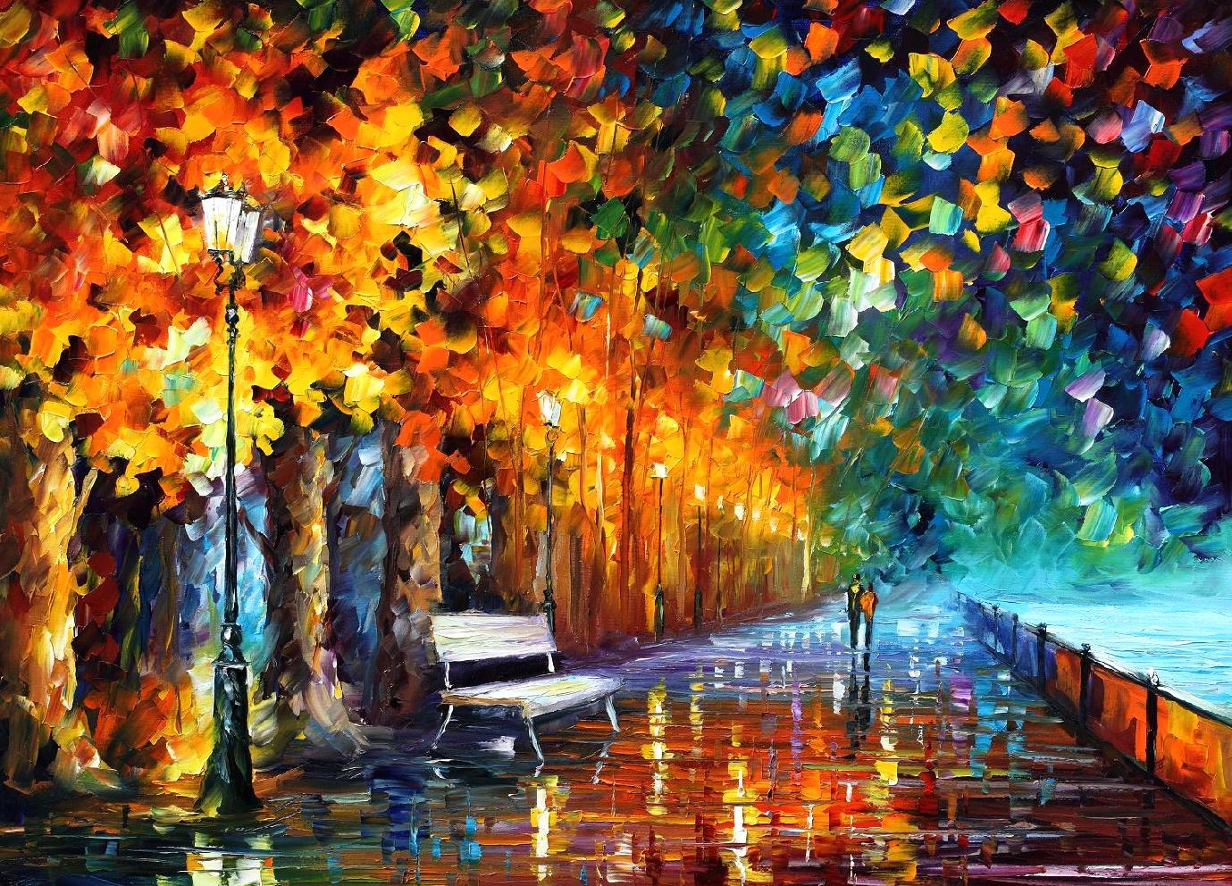 WAY TO HOME — PALETTE KNIFE Oil Painting On Canvas By ...