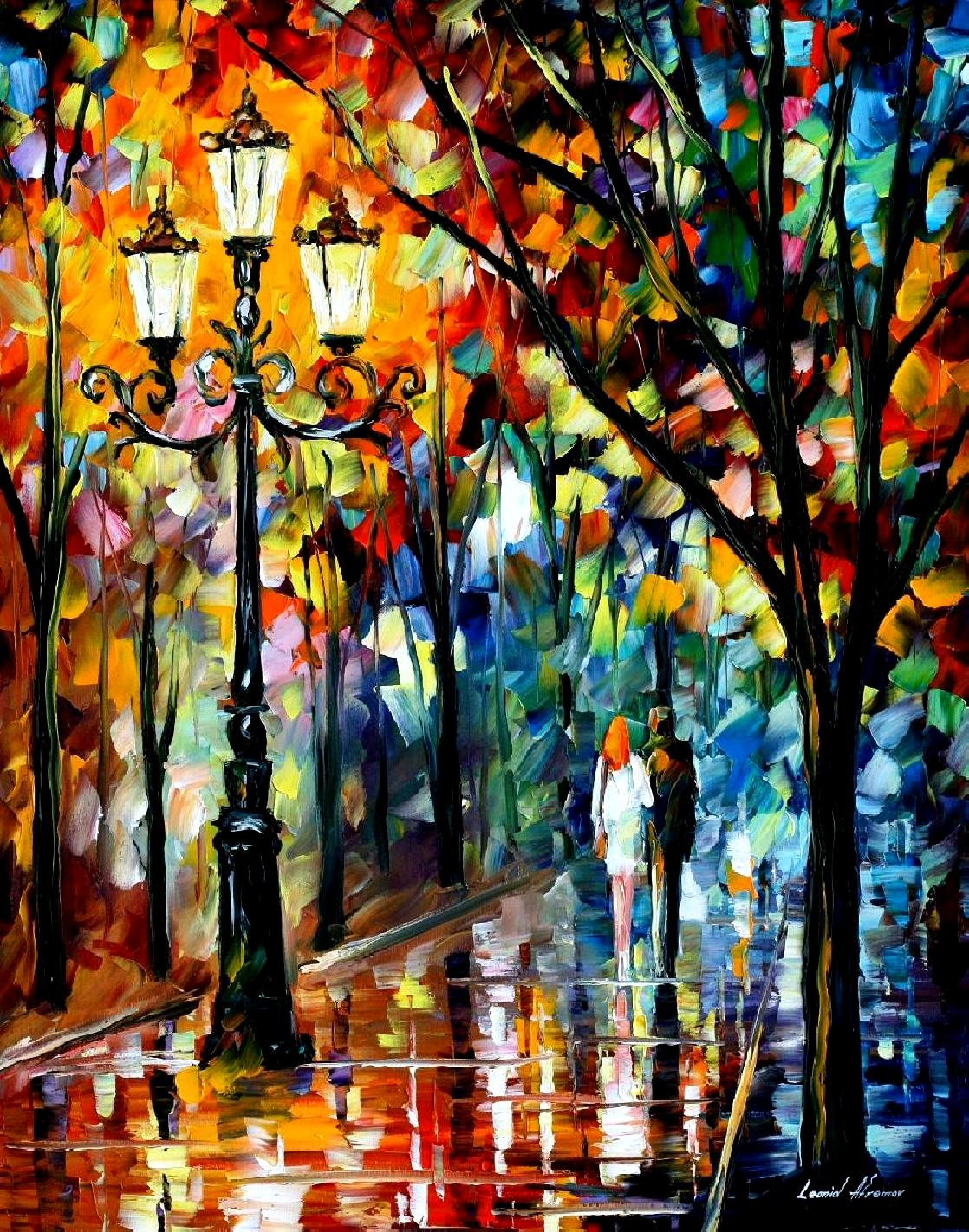 "KALEIDOSCOPE OF LOVE — PALETTE KNIFE Oil Painting On Canvas By Leonid Afremov - Size 24""X30"" (60cm x 75 cm) (offer)"