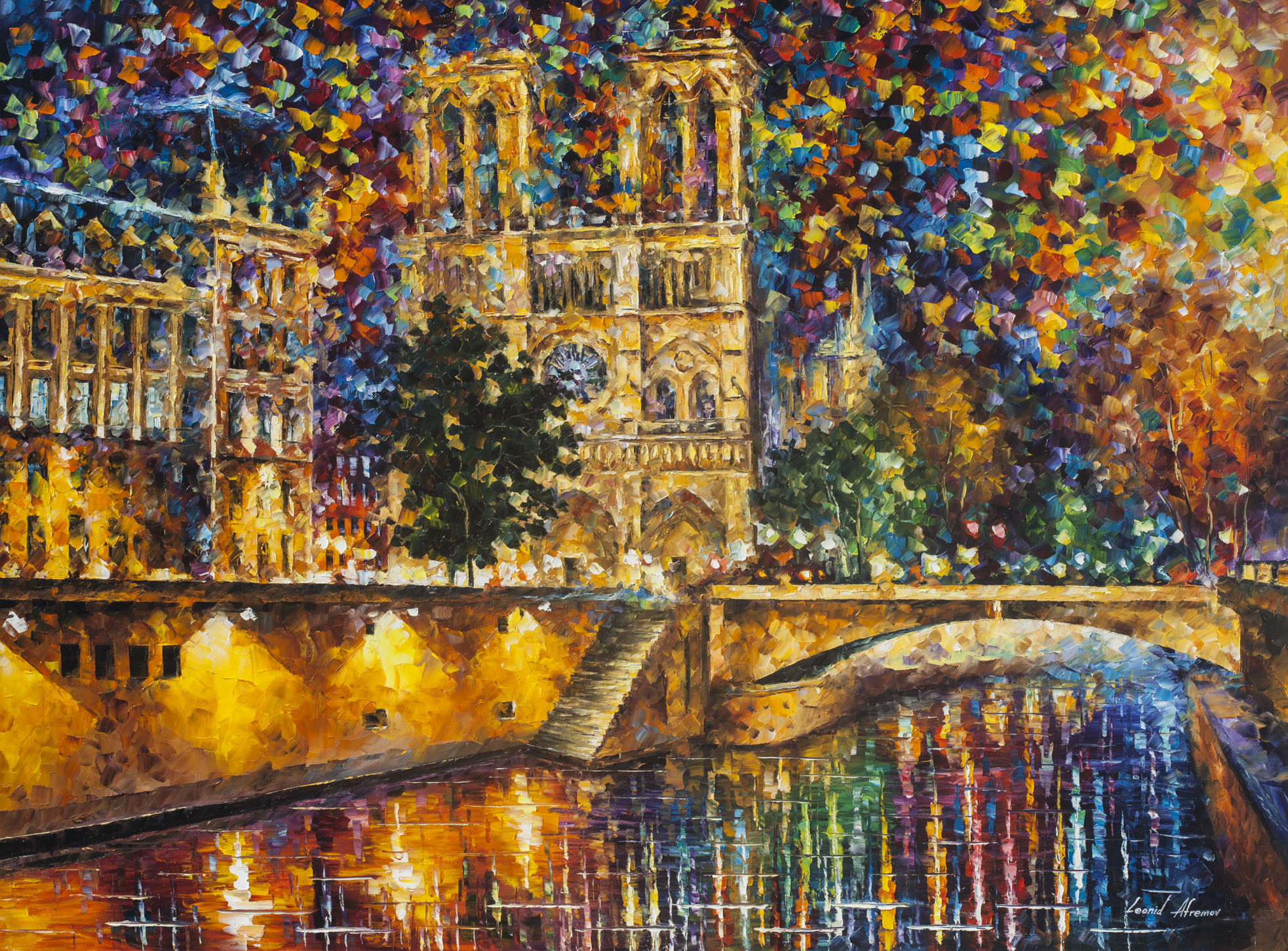 "Notre Dame Cathedral — PRINT On Canvas - Size 40""x30"" (100cm x 75cm)"
