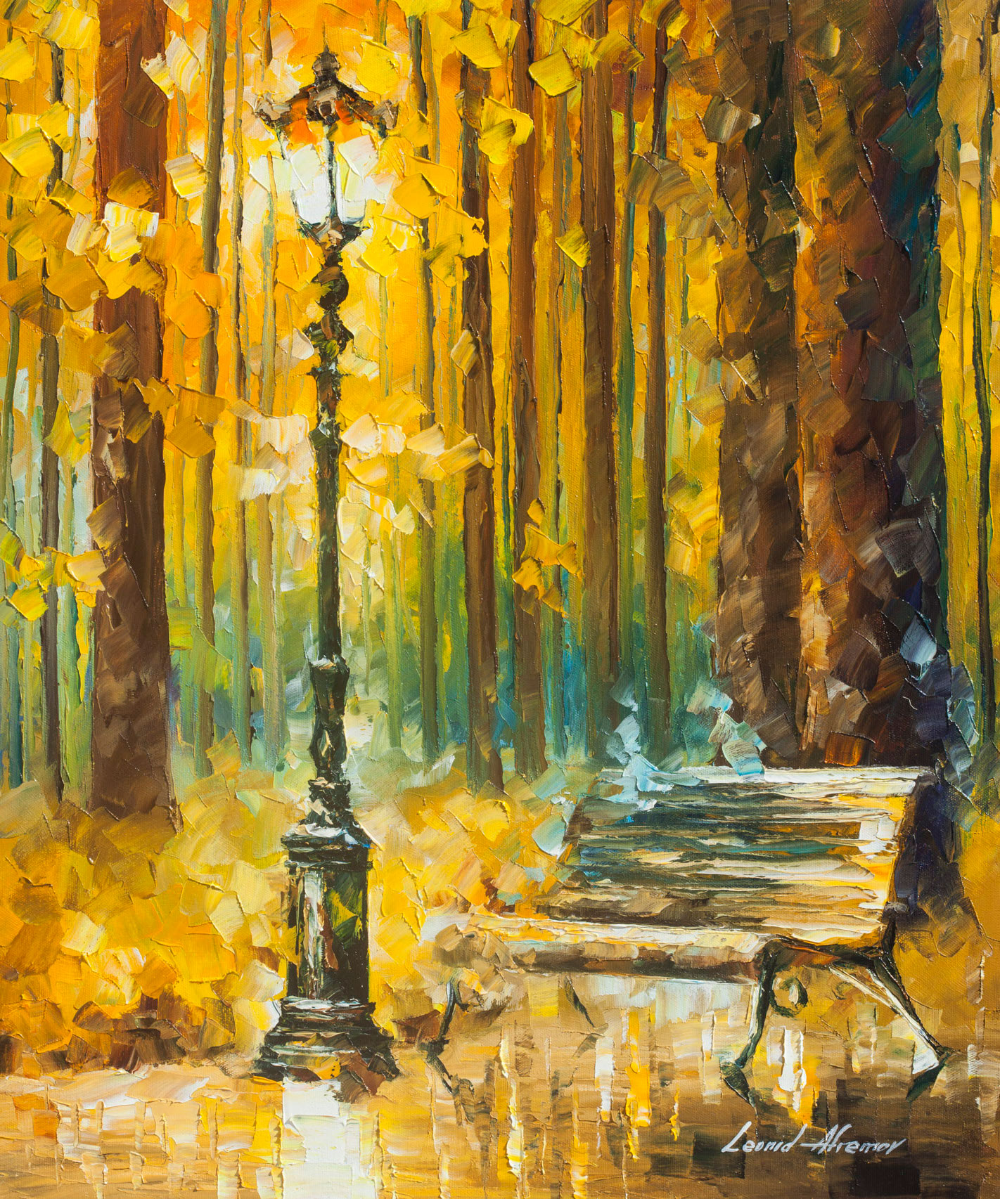 "LIGHT AND PASSION - Original Oil Painting - Wall Art Canvas By Leonid Afremov - 20""X24""  (50cm x 60cm)"