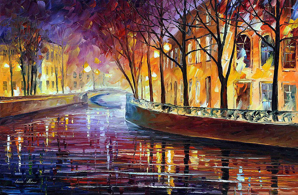 "MISTY MELODY — Oriignal Oil Painting On Canvas By Leonid Afremov - Size 36""x24"" (90cm x 60cm)"