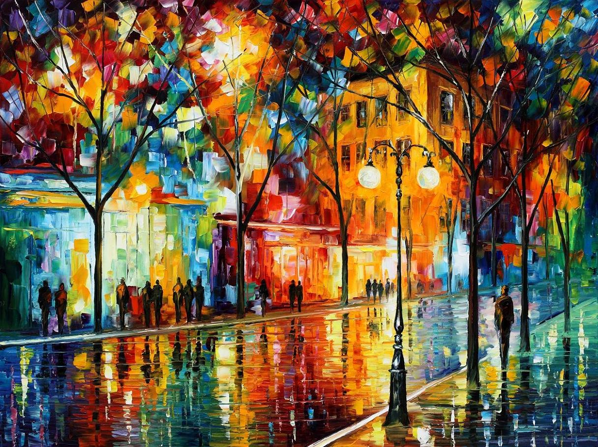 "THE TEARS OF THE FALL  2 — PALETTE KNIFE Oil Painting On Canvas By Leonid Afremov - Size 40""x30"" (100cm x 75cm) (offer)"