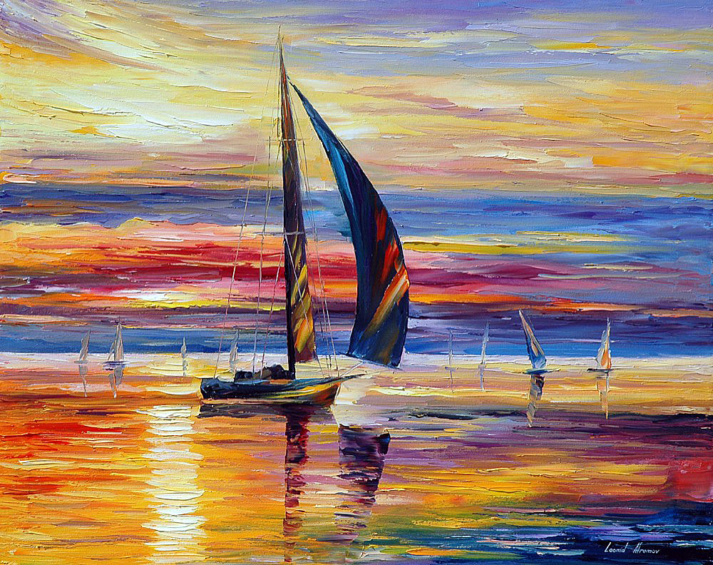 "ASPIRATION — Original  Oil Painting On Canvas By Leonid Afremov - Size 30""x24"" (75cm x 60cm)"