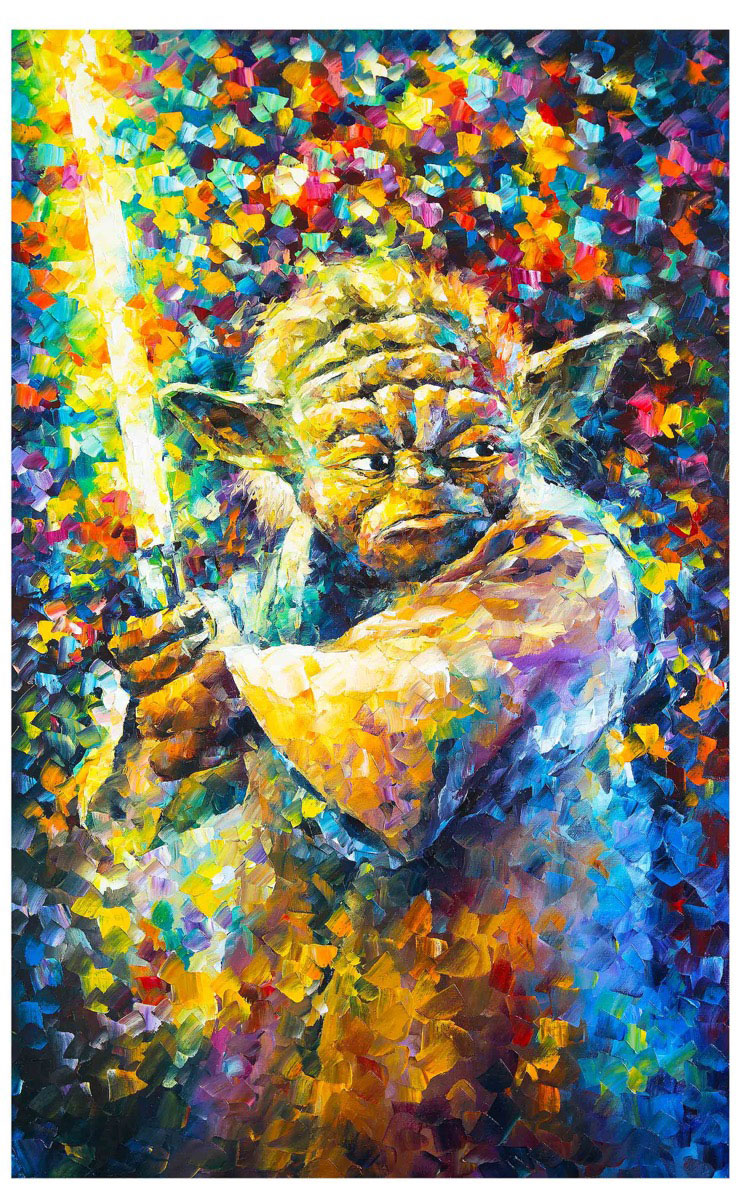 "Master Yoda — PRINT On Canvas - Size 40""x30"" (100cm x 75cm)"