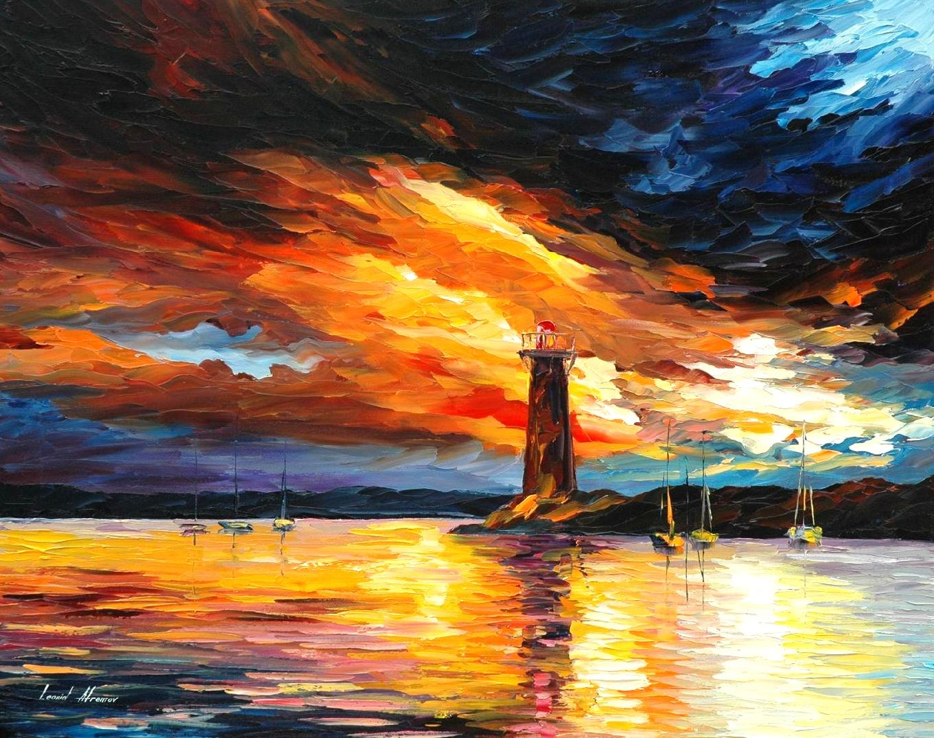 "BEFORE A STORM - Original Oil Painting on Canvas by Leonid Afremov  - Size 30""x24"" (75cm x 60cm)"