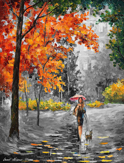 "Intriguing Autumn —Mixed media oil on canvas and limited edition  giclee  On Canvas By Leonid Afremov - Size 30""x40""   (75cm x 100cm) (edition of 25) (offer)"