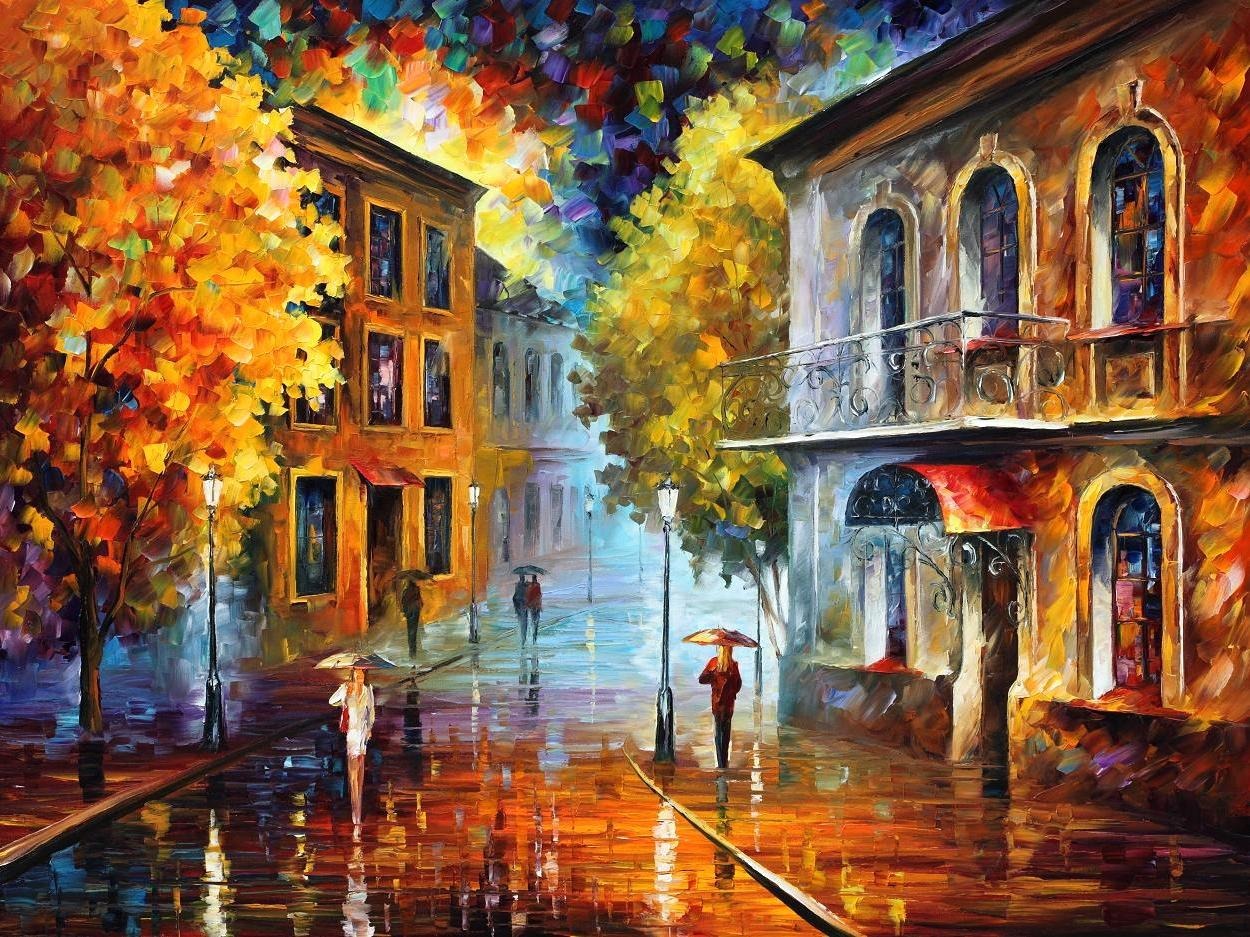 "ETUDE IN RED— PALETTE KNIFE Oil Painting On Canvas By Leonid Afremov - Size 40""x30"" (100cm x 75cm) (offer)"
